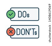 do and don't or good and bad... | Shutterstock .eps vector #1408619069