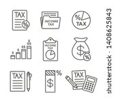 tax concept   percentage paid ...   Shutterstock .eps vector #1408625843
