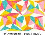 vintage geometric polygon... | Shutterstock . vector #1408640219