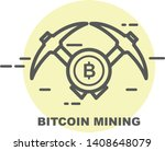 bitcoin mining icon   two... | Shutterstock .eps vector #1408648079