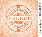 injured orange mosaic emblem...   Shutterstock .eps vector #1408648193