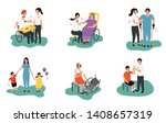 therapist with patient  medical ...   Shutterstock .eps vector #1408657319