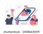 online gifts service vector... | Shutterstock .eps vector #1408665059