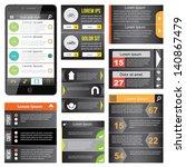 flat web design  elements ... | Shutterstock .eps vector #140867479