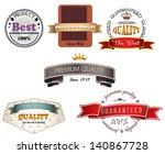 set of vintage premium quality... | Shutterstock .eps vector #140867728