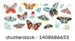 collection of elegant exotic... | Shutterstock .eps vector #1408686653