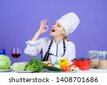 girl adorable chef teach... | Shutterstock . vector #1408701686