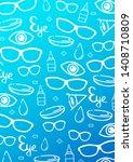 banner for optical shop or... | Shutterstock .eps vector #1408710809