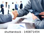 business people shaking hands | Shutterstock . vector #140871454