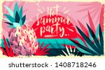 abstract vector illustration.... | Shutterstock .eps vector #1408718246