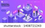 concept of digital technology....   Shutterstock .eps vector #1408721243