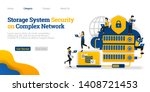storage system security in... | Shutterstock .eps vector #1408721453