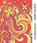 psychedelic pattern  vintage...   Shutterstock .eps vector #1408726343