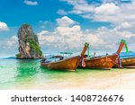 thai traditional longtail boat...   Shutterstock . vector #1408726676