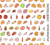 food images. background for... | Shutterstock .eps vector #1408730246