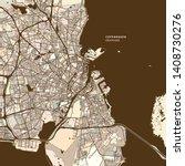 copenhagen denmark art map... | Shutterstock .eps vector #1408730276