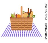 vector illustration with wicker ... | Shutterstock .eps vector #1408733459