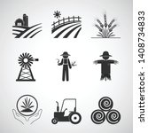 agriculture and tractor icon... | Shutterstock .eps vector #1408734833