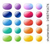 colorful ellipse  oval and...