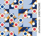 creative seamless geometrical... | Shutterstock .eps vector #1408742360