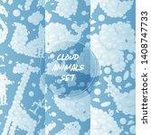 cloud animals seamless pattern...   Shutterstock .eps vector #1408747733