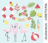 summer icons set  ice cream ...   Shutterstock .eps vector #1408751906