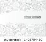 high tech technology background ... | Shutterstock .eps vector #1408754480
