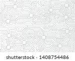 high tech technology background ... | Shutterstock .eps vector #1408754486