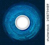 high tech technology background ... | Shutterstock .eps vector #1408754489