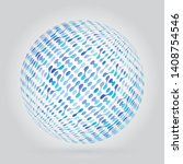 abstract sphere object with... | Shutterstock .eps vector #1408754546