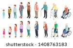 different generations.... | Shutterstock .eps vector #1408763183