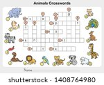 animals crosswords   worksheet... | Shutterstock .eps vector #1408764980