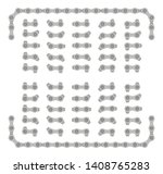 gray roller chain that used on... | Shutterstock .eps vector #1408765283