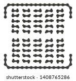 black roller chain that used on ... | Shutterstock .eps vector #1408765286