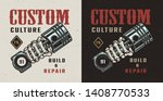 vintage motorcycle workshop... | Shutterstock .eps vector #1408770533