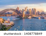 Downtown Sydney Skyline In...
