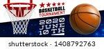 basketball modern sports poster ... | Shutterstock .eps vector #1408792763