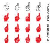 giant foam finger illustrations ... | Shutterstock .eps vector #1408800989