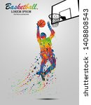 visual drawing basketball sport ... | Shutterstock .eps vector #1408808543