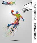 visual drawing basketball sport ... | Shutterstock .eps vector #1408808549