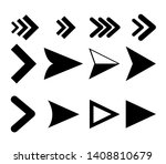 arrow icons. vector pointers... | Shutterstock .eps vector #1408810679
