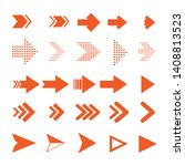 arrow icons. vector pointers... | Shutterstock .eps vector #1408813523