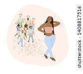 confident woman is attractive... | Shutterstock .eps vector #1408817516
