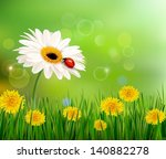 summer nature background with... | Shutterstock .eps vector #140882278