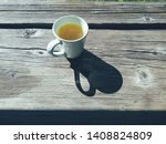 Cup Of Tea On Wooden Terrace...