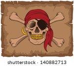 Vector Skull Of Pirate