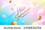 hello summer banner. trendy...   Shutterstock .eps vector #1408836356