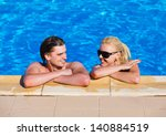 young couples in swimming pool | Shutterstock . vector #140884519