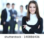 face of beautiful woman on the...   Shutterstock . vector #140886436