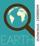 vector minimal design   earth... | Shutterstock .eps vector #140888044